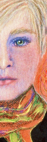 Wendy Borglum self-portrait, detail